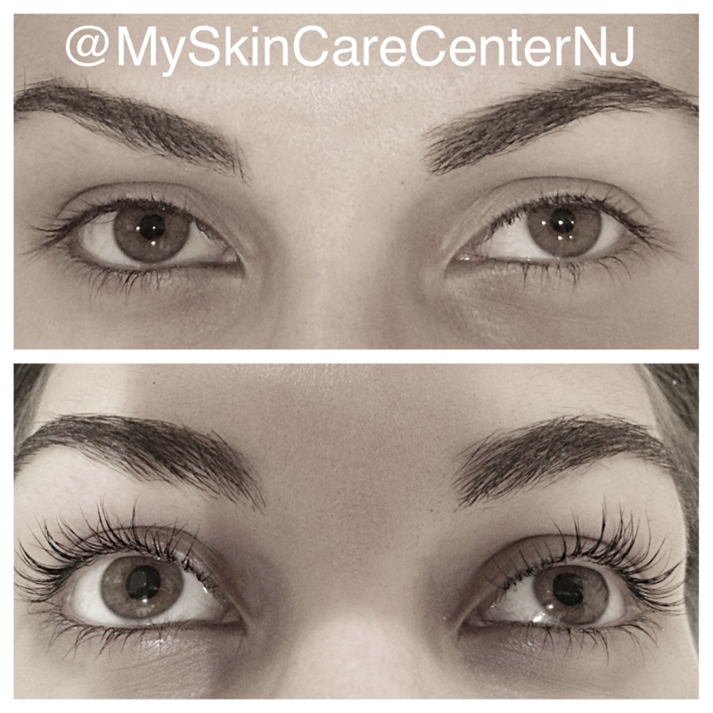 lash lift with tint before & after